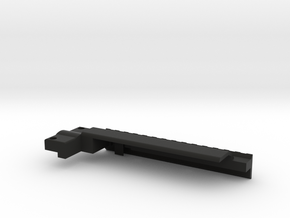 Rail With Stock Right Side in Black Natural Versatile Plastic