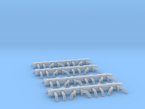 N Scale Wheel Guides (16 Sets) in Smooth Fine Detail Plastic