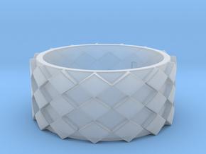 Futuristic Diamond Ring Size 9 in Smooth Fine Detail Plastic