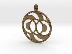 LIFE SPIRAL ONE in Polished Bronze