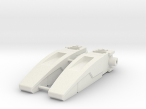 Blocky Glider Inlets in White Natural Versatile Plastic