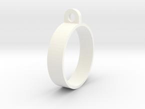 E-cig Mod Ring 23mm in White Processed Versatile Plastic