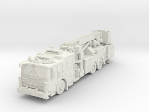 N Scale 1/160 Seagrave MII Aerialscope Marauder in White Strong & Flexible