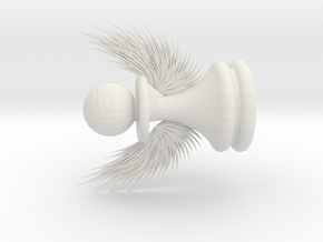 Pawn with Wings in White Natural Versatile Plastic