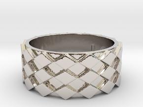 Futuristic Diamond Ring Size 11 in Platinum