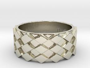 Futuristic Diamond Ring Size 11 in 14k White Gold