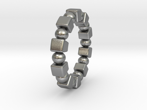Claudette - Ring in Natural Silver: 9 / 59