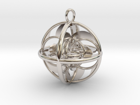LIFE SPIRAL GYRO in Rhodium Plated