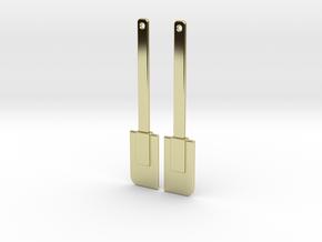 Spatula Earrings in 18k Gold Plated Brass