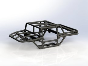 Scorpion - T v1 1/24th scale rock crawler chassis in Black Strong & Flexible