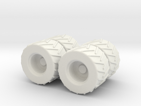 1:87 4x Skidder Set in White Strong & Flexible