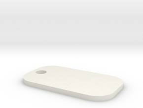 Custom Dog Tag in White Natural Versatile Plastic