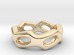 Fantasy Ring 17 - Italian Size 17 in 14k Gold Plated Brass