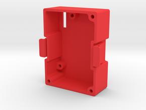 JR Module Bottom in Red Processed Versatile Plastic