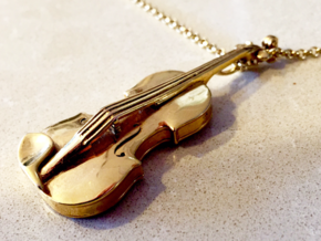 Violin Pendant in 18k Gold Plated