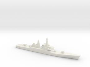 USS CGN-38 Virginia, 1/2400 in White Natural Versatile Plastic
