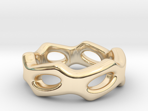 Fantasy Ring 24 - Italian Size 24 in 14k Gold Plated Brass