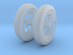 1-24 Wheels For M3A4 Handcart in Frosted Ultra Detail