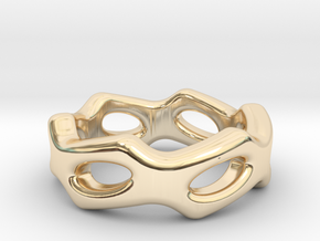 Fantasy Ring 32 - Italian Size 32 in 14k Gold Plated Brass