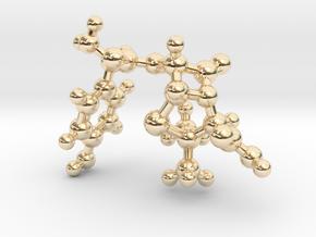 amoxicillin_ball_stick in 14K Yellow Gold