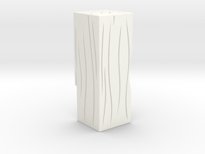 "AC/DC ""Timber Grain"" Bell Block Mod in White Processed Versatile Plastic"