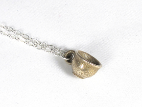 Teacup in Polished Bronzed Silver Steel