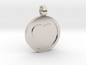 "Personalized Heart Pendant - Say ""I Love You""  in Rhodium Plated Brass"