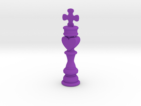 King phone charm in Purple Processed Versatile Plastic