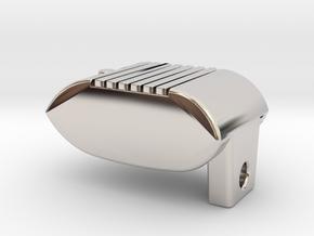 Drive-in Movies Speaker Keyring / KeyChain in Rhodium Plated Brass