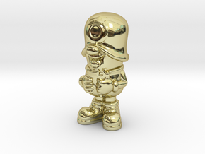 SmileCappy FullColor in 18k Gold Plated Brass