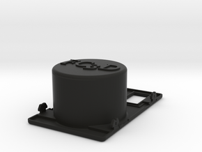 Cup Holder Two Switches in Black Natural Versatile Plastic