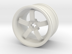 Wheel Design VIII in White Natural Versatile Plastic