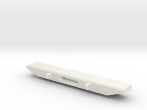 SCX-10 Rear bumper with winch fairlead in White Natural Versatile Plastic