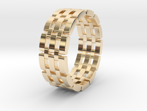 Watara - Ring in 14k Gold Plated Brass: 9 / 59