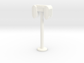 Drive In Speaker / Stand  - 1:7.5 Scale in White Processed Versatile Plastic