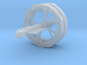Futuristic space station concept (Large) in Smooth Fine Detail Plastic