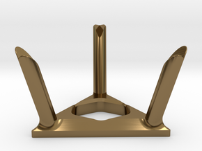 Twisty Puzzle Stand in Polished Bronze