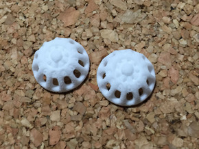 Doll Eyes Steampunk Moving Gears: 17mm  in White Natural Versatile Plastic