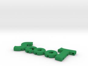 """ScooT"" nock depot / arrow spinner in Green Processed Versatile Plastic"