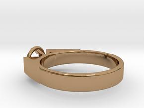 Design Ring For Diamond Ø17.83 Mm  Model Alessa  in Polished Brass