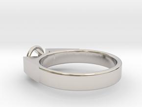 Design Ring For Diamond Ø17.83 Mm  Model Alessa  in Rhodium Plated Brass