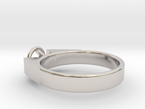 Design Ring For Diamond Ø17.83 Mm  Model Alessa  in Platinum