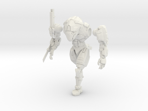 28mm scale mech - Rapier in White Natural Versatile Plastic