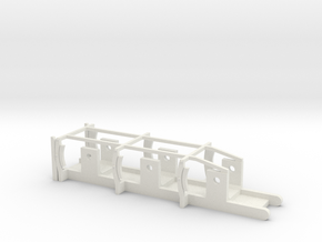 L&YR Tender - 00 Chassis in White Natural Versatile Plastic