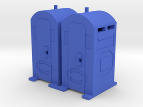 Porta Potty - HO 87:1 Scale Qty (2) in Blue Strong & Flexible Polished
