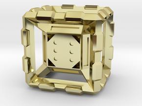 Hyper Dice Standard in 18k Gold Plated Brass