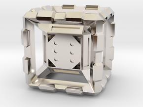 Hyper Dice Standard in Rhodium Plated Brass
