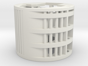 All-in-1 battery extension module = 2x18500 in White Natural Versatile Plastic