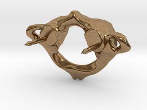 C1 Atlas Biker Pin in Natural Brass