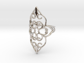 Bloom - size 5 in Rhodium Plated